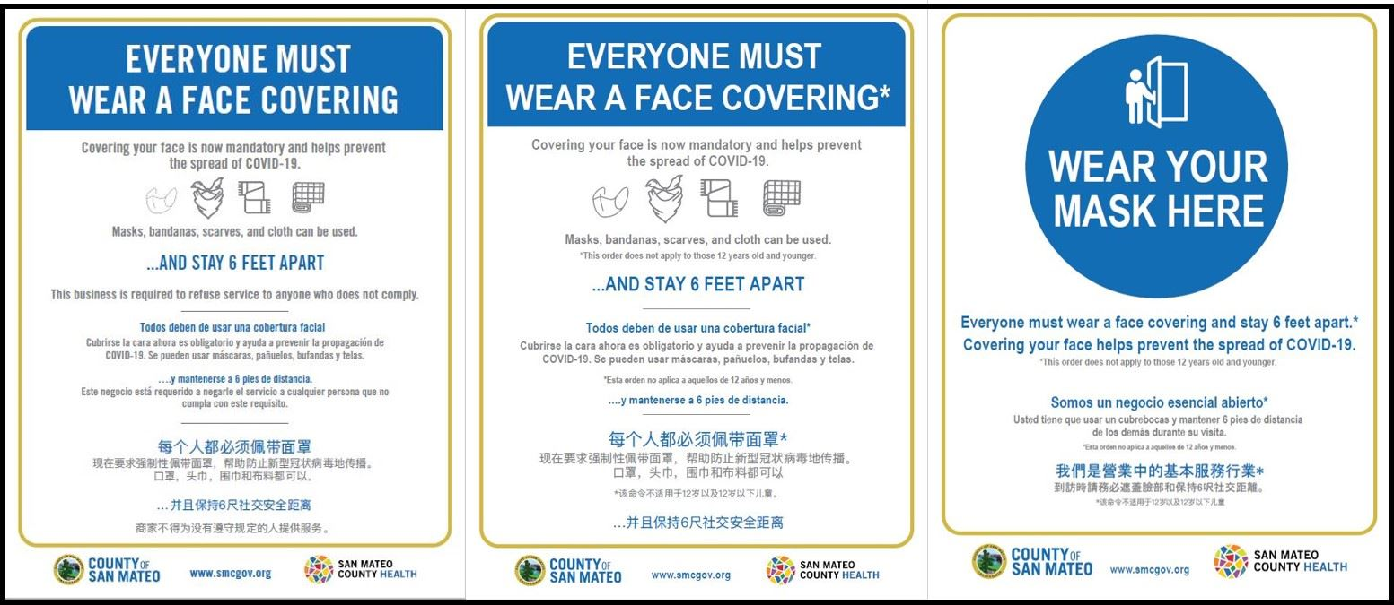 Face Mask Signs Available from San Mateo County