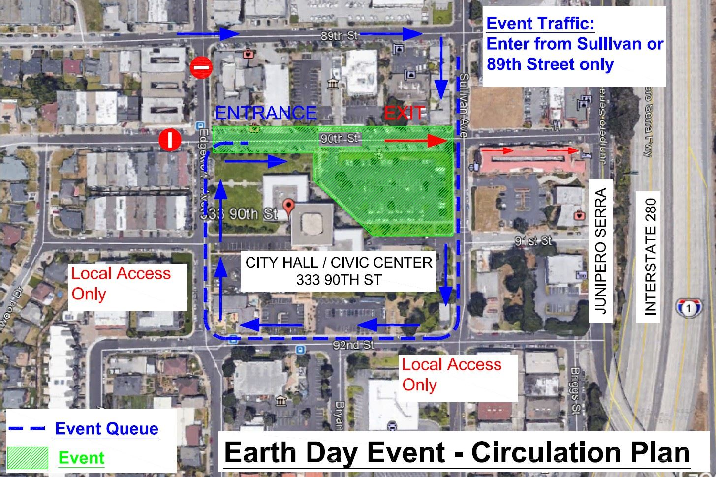 Earth Day 2021 - Circulation Plan Map