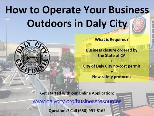 How to Operate Your Business Outdoors in Daly City, a COVID-19 guide